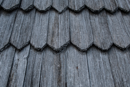 Wooden roof shingles. Texture and background 스톡 콘텐츠