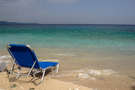 Beautiful beach for a holiday in Albania. Ionian Sea