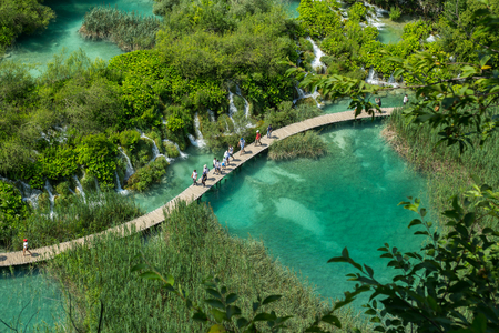 Beautiful view in Plitvice Lakes National Park. Croatia. Stock Photo
