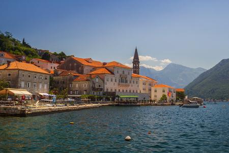 Sunny Mediterranean landscape. Montenegro, Bay of Kotor