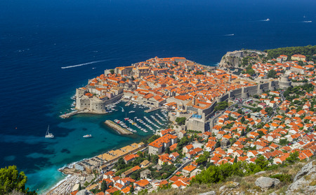 Overview to the old town of Dubrovnik, Croatia Stok Fotoğraf