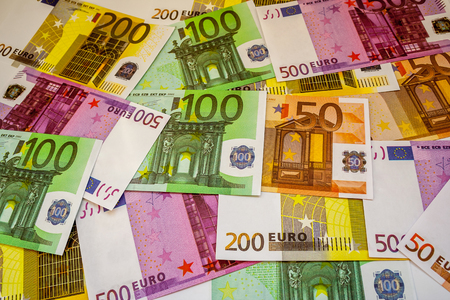Euro Money Banknotes and cash. 50. 100. 200. 500 euro