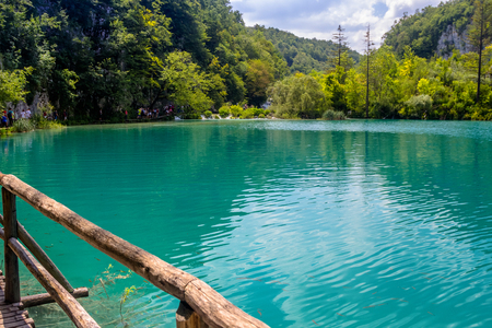 Beautiful view in Plitvice Lakes National Park. Croatia Stock Photo