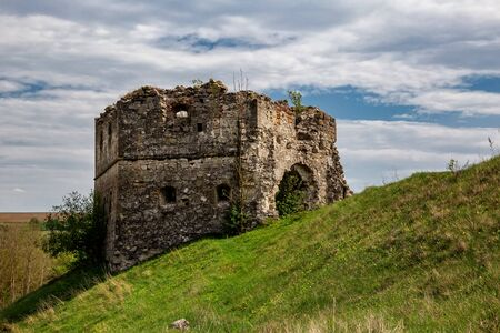 Remains and ruins of an old castle in Europe. UNESCO heritage