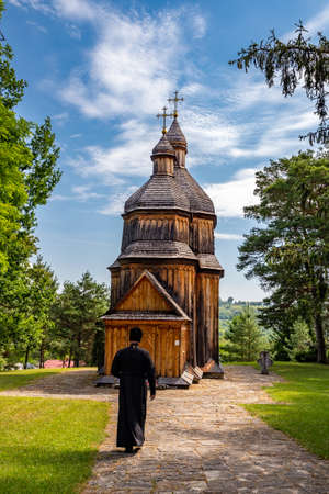 Old wooden church in Ukraine. Travels in Ukraine.