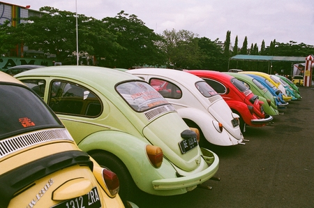 Colorful cars Editorial