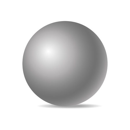 White realistic three-dimensional sphere isolated on white background. Vector illustration. Eps 10.