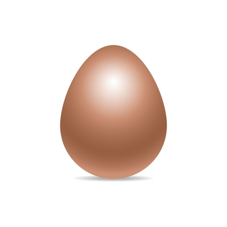 Vector single fresh realistic chiken egg isolated on white background with soft shadow. Perfect Easter holiday template.Three-dimensional illustration. Eps 10. Standard-Bild - 122364086
