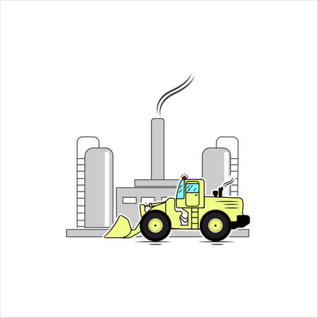 industrial company construction illustration vector design