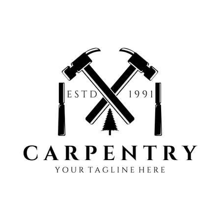 carpenter vector vintage illustration design