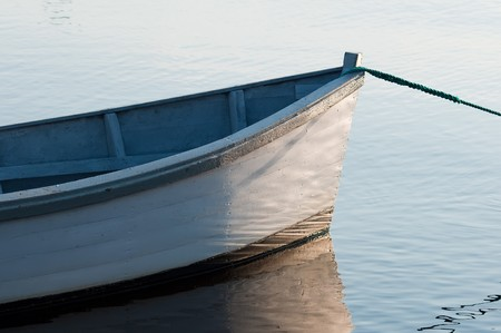 rowboat: Prow of a wooden boat Stock Photo