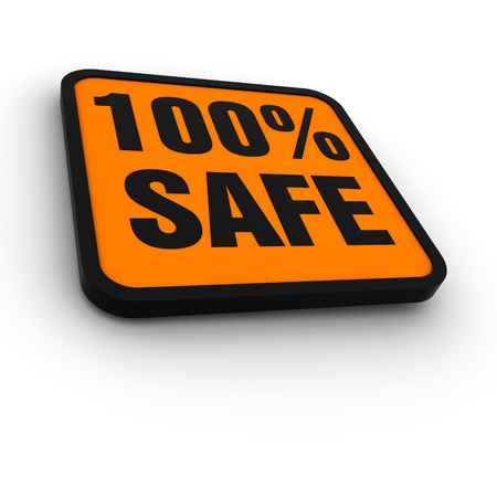 non: labels for the 100% safe Stock Photo