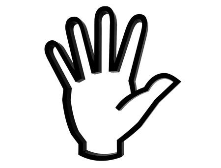 3d hand symbol photo