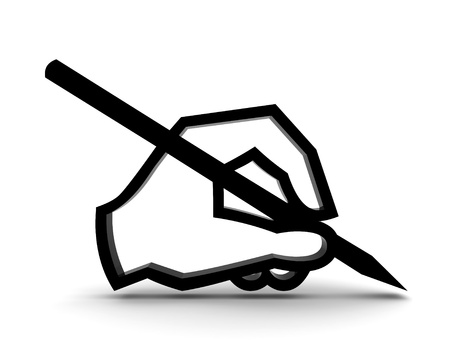 3d hand writing with pen  Stock Photo - 8493644