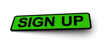 labels for the sign up Stock Photo - 8493643
