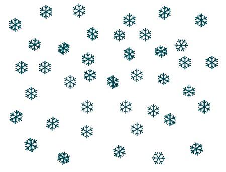 3D snowflake  photo