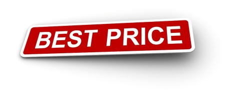 Low price labels Stock Photo