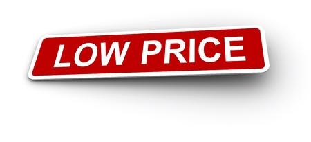Low price labels Stock Photo