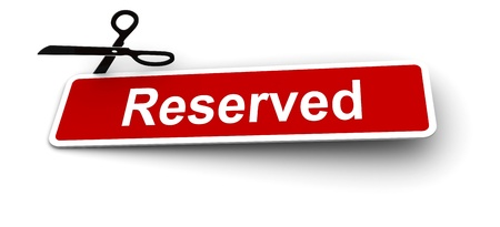 labels for the reserved Stock Photo - 8496293