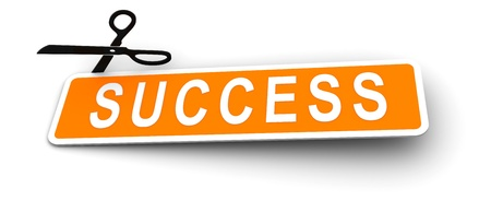 labels for the success Stock Photo