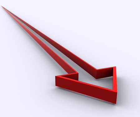 3d arrows Stock Photo