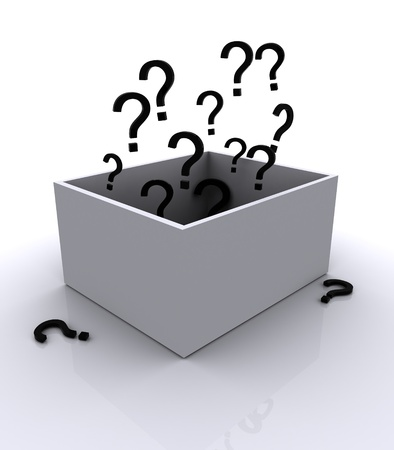 Box with question mark photo