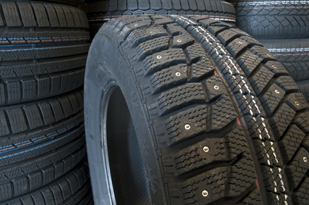 winter tires: Winter tires close up