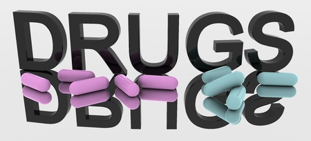 3D Rendered Drug word Stock Photo - 8523326