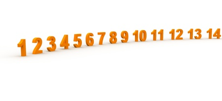 3D Rendered Numbers photo