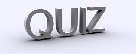 3D Rendered Quiz word