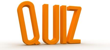 3D Rendered Quiz word Stock Photo