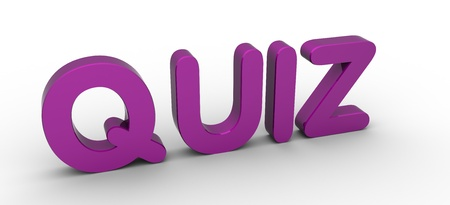 3D Rendered Quiz word Stock Photo