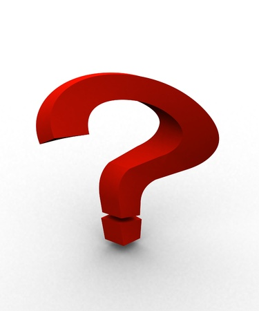 3D Question mark  Stock Photo - 8522985