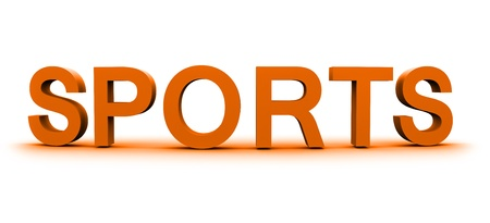 word Sports  3D  Stock Photo
