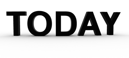 3D Rendered Today word