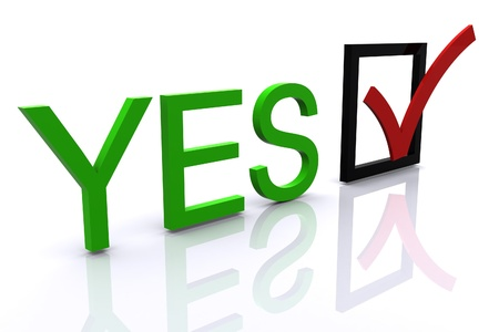 3D signs Yes  No Stock Photo