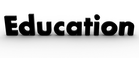 3D Education Word Stock Photo - 8523450