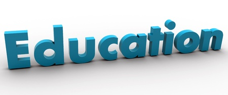 3D Education Word  Stock Photo - 8523499