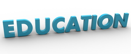 3D Education Word Stock Photo - 8523480