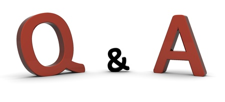Question and Answer / 3D Rendered word Stock Photo - 8523457