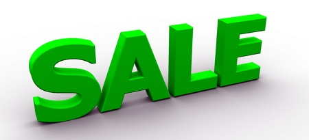 3D Rendered Sale word photo