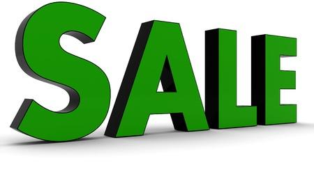 3D Rendered Sale word photo