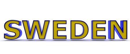 3D Sweden word Stock Photo - 8523503