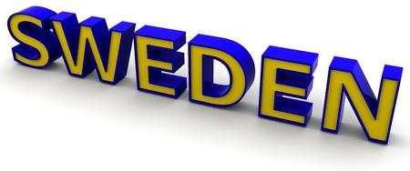 3D Sweden word Stock Photo - 8523515