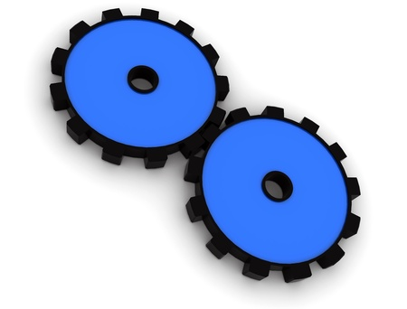 illustration of cog wheels showing team work  Stock Illustration - 8523833