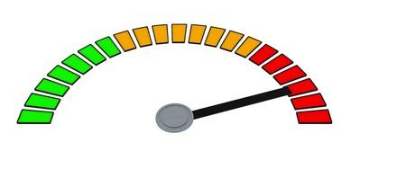 3D Speedometer Stock Photo