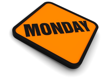 Sign for the word monday Stock Photo - 8621936