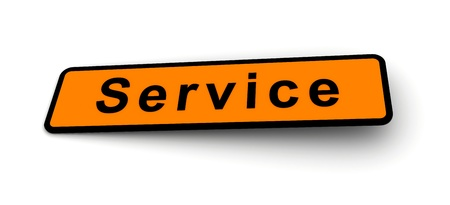 largess: Sign for the word Service