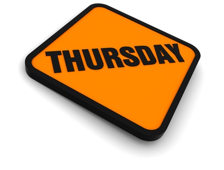 Sign for the word Thursday Stock Photo - 8621937