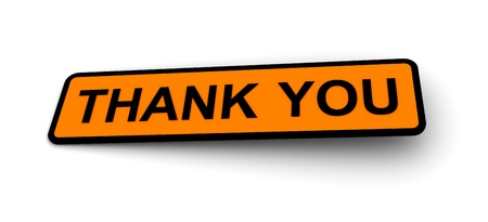 Labels for the Thank you Stock Photo - 8621921